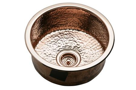 "Elkay SCF16 16"" Top Mount/Undermount Round Bowl Copper Sink"