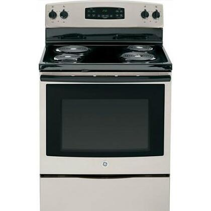 "GE JB250GFSA 30"" Electric Freestanding Range with Coil Element Cooktop, 5.3 cu. ft. Primary Oven Capacity, Storage in Silver"
