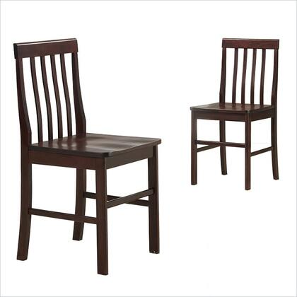 Walker Edison CHWN2ES Princeton Series Contemporary Not Upholstered Wood Frame Dining Room Chair
