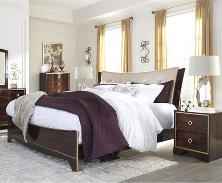 Milo Italia BR363KPBN Gentry King Bedroom Sets