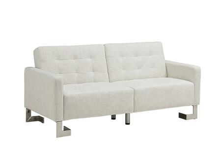 "Casabianca Spezia Collection TC-5518 73"" Sofa Bed with XX Upholstery, Tufted Cushions and Stainless Steel Legs in"