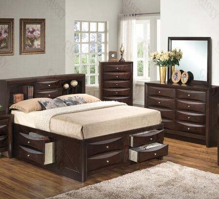 Glory Furniture G1525GFSB3DM G1525 Full Bedroom Sets