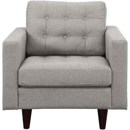 Modway EEI1013LGR Empress Series Armchair Fabric Wood Frame Accent Chair