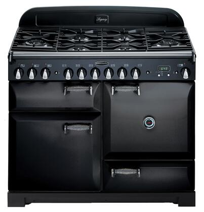 "AGA ALEG44DFBLK 44"" Legacy Series Dual Fuel Freestanding Range with Sealed Burner Cooktop, 2.4 cu. ft. Primary Oven Capacity, Storage"