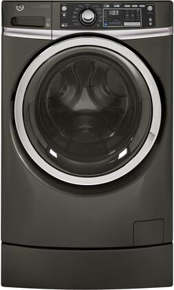"GE GFW490Rx 28"" Front Load Washer with 4.9 cu. ft. Capacity, RightHeight Design and Steam Cycle, in"