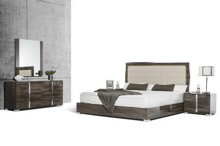 VIG Furniture VGACSANMARINOSETGRYQ San Marino Series 5 Piece Bedroom Set
