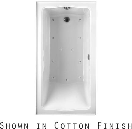 Toto ABR782R12NX Clayton Series Drop-In Airbath Tub with Acryclic Construction and Slip-Resistant Surface, Sedona Beige Finish
