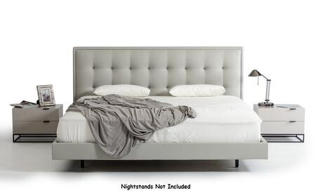 VIG Furniture VGCNHERA-BED Modrest Hera Modern Grey Leatherette Bed