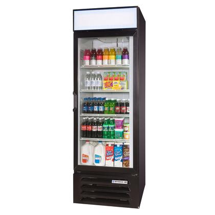 Beverage-Air LV23-1 LumaVue One Section Refrigerated Glass Door Merchandiser with LED Lighting, 23 cu.ft. Capacity, [Color] Exterior and Bottom Mounted Compressor