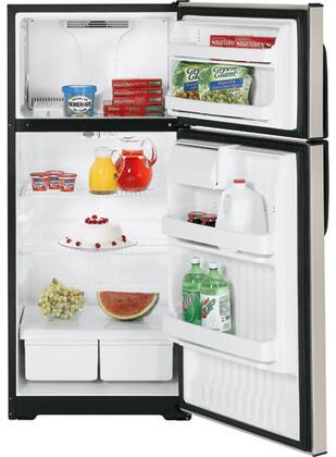 Hotpoint HTM17BBSSA  Refrigerator with 16.6 cu. ft. Capacity in Stainless Steel