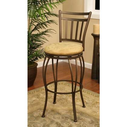 American Heritage Folio Series 1XX831TZ-M42 Traditional Stool With Full Bearing Swivel and Floor Glides in Topaz Finish with Camel Microfiber Seat