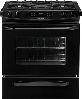 "Frigidaire FFGS3025LB 30"" Slide-in Gas Range with Sealed Burner Cooktop Storage 4.2 cu. ft. Primary Oven Capacity"