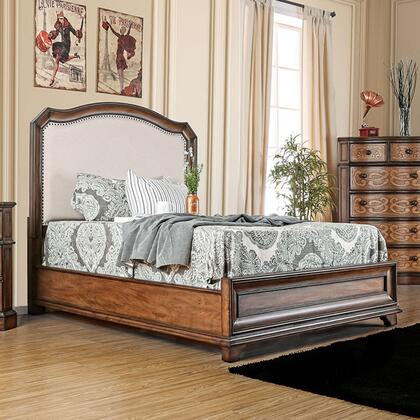 Furniture of America CM7831FEKBED Emmaline Series  King Size Panel Bed