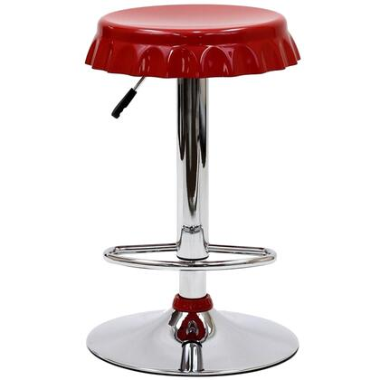Modway EEI584RED Soda Series Residential Not Upholstered Bar Stool