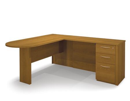 Bestar Furniture 60878 Embassy L-shaped workstation kit including assembled pedestal