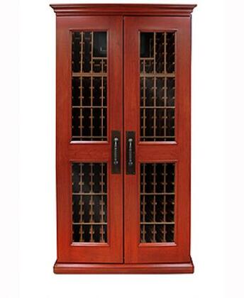 "Vinotemp VINO-SONOMA700LX Sonoma LUX Series 55"" 700-Model Wine Cabinet with 464-Bottle Capacity, Wine-Mate Cooling System, Redwood Racks, Cornice/Base and Digital Temperature Control,"