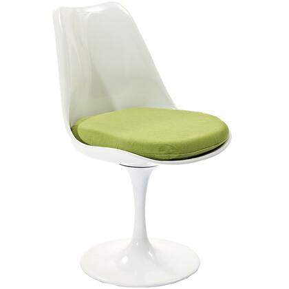 Modway EEI115GRN Lippa Series Modern Fabric Plastic Frame Dining Room Chair