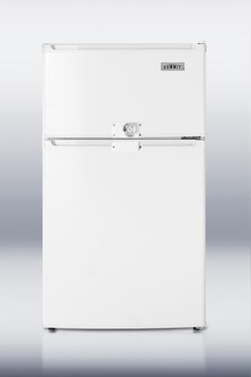 "Summit CP35LLF2ADA 19"" Counter Depth Refrigerator with 2.9 cu. ft. Capacity in White"