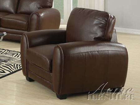 Acme Furniture 15242A Amber Series Bonded Leather with Wood Frame in Brown