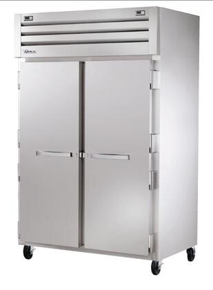 True STG2DT Spec Series Two-Section Reach-In Refrigerator and Freezer with 50 Cu. Ft. Capacity, Dual Temperature, LED Lighting, and Solid Swing-Doors