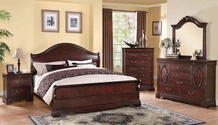 Acme Furniture 22724CKDMCN Beverly California King Bedroom S