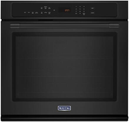 "Maytag MEW9527FX 27"" Single Wall Oven with True Convection, 4.3 cu. ft. Capacity, Precision Cooking System, Variable Broil, Digital Display, Timer, and Incandescent Light"