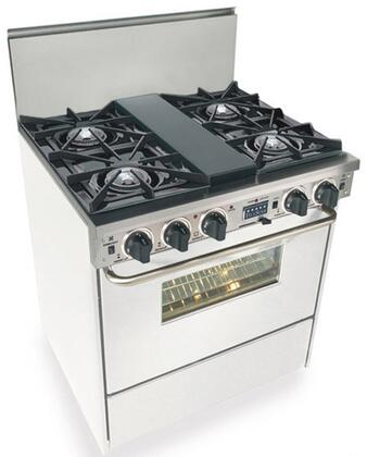 """FiveStar WTN275W 30""""  White Dual Fuel Freestanding Range with Open Burner Cooktop, 3.69 cu. ft. Primary Oven Capacity,"""