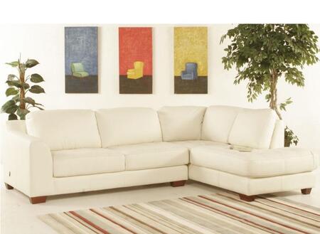 Diamond Sofa ZENRF2PCSECTE  Stationary Leather Sofa