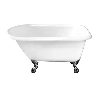 "Barclay CTRNTD49WH 48"" Almena Cast Iron Roll Top Tub Having Overflow and No Faucet Holes with Feet in:"