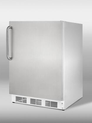 "Summit VT65MCSS24"" Built In Upright Counter Depth Freezer"