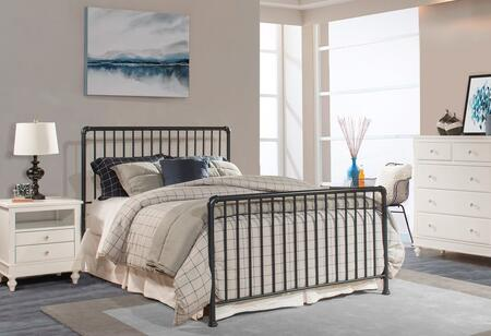 Hillsdale Furniture Brandi 2124BXR Bed with Simple Spindle Design and 2 Panels Constructed with Metal in Navy Finish