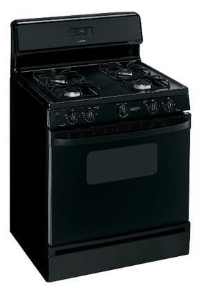 "Hotpoint RGB530DETBB 30"" Gas Freestanding Range with Sealed Burner Cooktop, Broiler in Black"