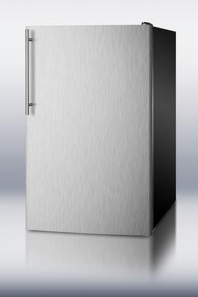Summit CM421BLXBISSHVADA CM421BLBIADA Series Compact Refrigerator with 4.1 cu. ft. Capacity in Stainless Steel