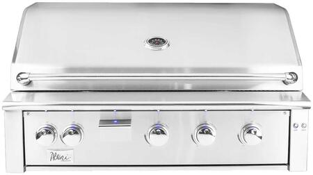 "Summerset Grills ALT42 42"" Alturi Series Built-In Grill with 3 Main Burners and a Smoker Burner, 18000 BTU Infrared Burner, 945 sq. in. Cooking Area, LED Front Panel Lighting, in Stainless Steel"