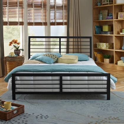 Rest Rite Tiffany Collection MFP01853xx X Size Platform Bed with Metal Frame and Modern Style in Dark Metal