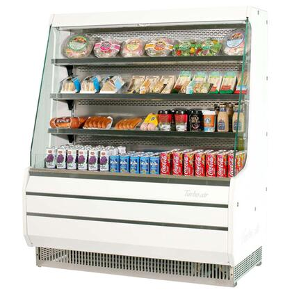 Turbo Air TOOM Medium Display Merchandiser with Efficient Refrigeration System, Stainless Steel Front Panel, Glass Sides, Anti-Rust Coating, Back-Guard and Fluorescent Lighting: