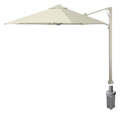 """Shadowspec SU7 Series KITP7SQ30GA Rotating 9'10""""/3m Square Cantilever Umbrella with In Ground Anchor Fixing in"""