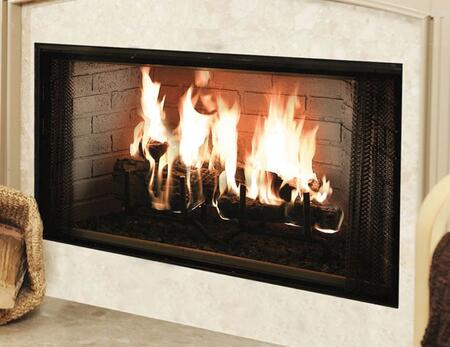 Majestic BE Royalton Radiant Wood Burning Fireplace with Full Refractory Firebox, Traditional Brick Interior, Ash Lip and Safey Firescreen