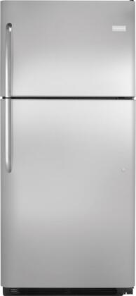 Frigidaire FFHT2126PS Freestanding Top Freezer Refrigerator with 20.6 cu. ft. Total Capacity 2 Glass Shelves 5.3 cu. ft. Freezer Capacity