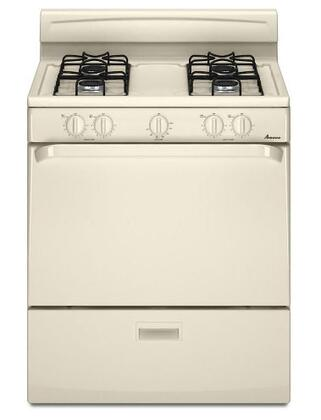 Amana AGR3311WDQ  Gas Freestanding Range with Sealed Burner Cooktop, 4.4 cu. ft. Primary Oven Capacity, in Bisque