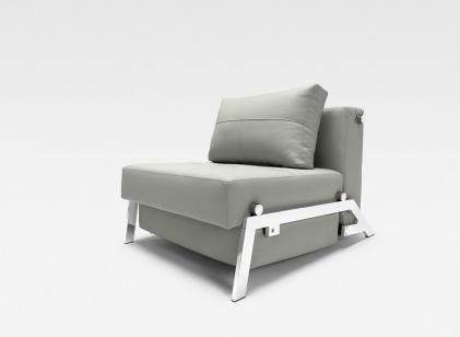 Innovation 94744003C5800 Cubed Series  with Leather Textile Frame in Light Grey