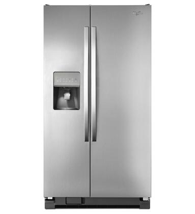 "Whirlpool WRS325FDAM 36""  Side by Side Refrigerator with 24.5 cu. ft. Capacity in Monochromatic Stainless Steel"
