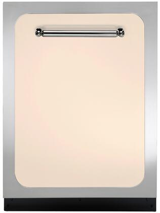 "Heartland HCTTDWIVY 24"" Classic Series Built In Fully Integrated Dishwasher with 15 Place Settings Place Settingin Ivory"