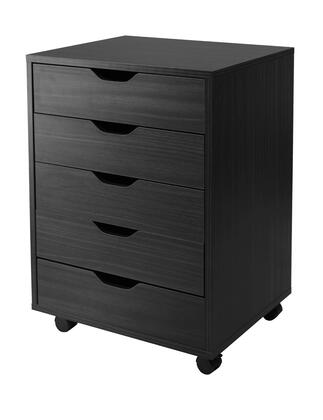 Winsome 20HalifB Halifax Cabinet for Closet / Office with Drawers in Black Finish