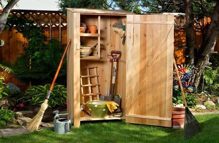 "All Things Cedar GHX0U XX"" Unassembled Garden Hutch for all Tools or Garden Items"