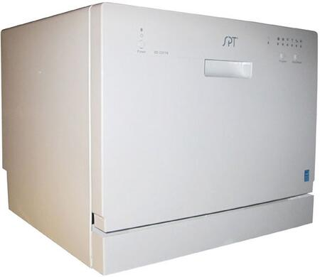 "Sunpentown SD2201W 22"" Countertop Full Console Dishwasher, in White"