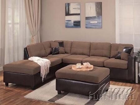 Acme Furniture 10105 Milano Series Sectional Chocolate Sofa