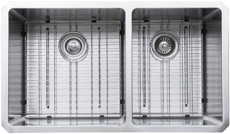 """Kraus KHU10333KPF1612KSD30 Precision Series 33"""" 60/40 Double-Bowl Kitchen Sink with Stainless Steel Construction, NoiseDefend, and Included Pull-Down Kitchen Faucet"""