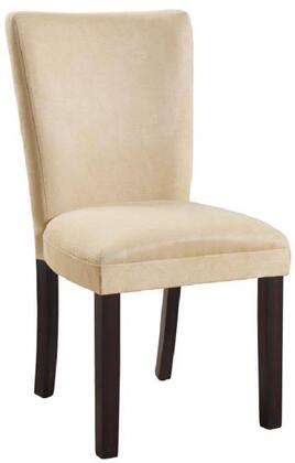 """Coaster 10149 19"""" Parson Side Chair with Soft Microfiber Fabric Upholstery, High Solid Back, Wood Tapered Legs and Padded Seat in"""