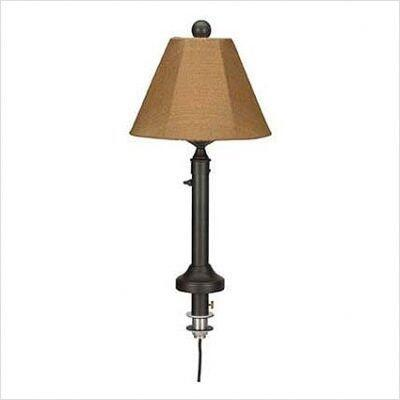 Patio Living Concepts 0077 Outdoor Umbrella Table Lamp Fabric and Body Color Choice With Polycarbonate Waterproof Light Bulb Enclosure, On/Off Dimmer Switch And 20 Ft. Weatherproof Cord And Plug, In